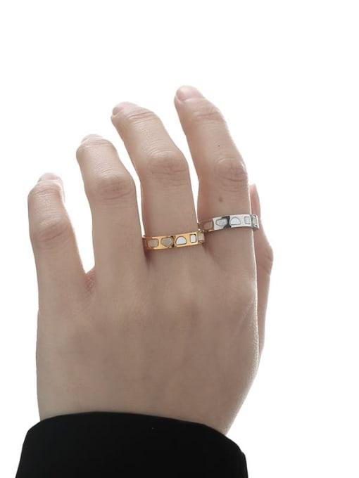 TINGS Brass Shell Irregular Vintage Band Ring 1