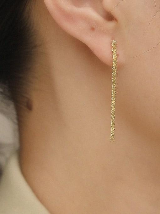 HYACINTH Brass Tassel Vintage Drop Earring 1