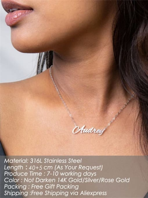 Desoto Custom Titanium Steel Name necklace 2