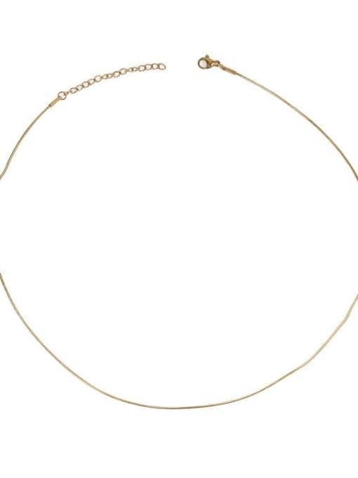 Snake bone chain Brass Geometric Minimalist Choker Necklace