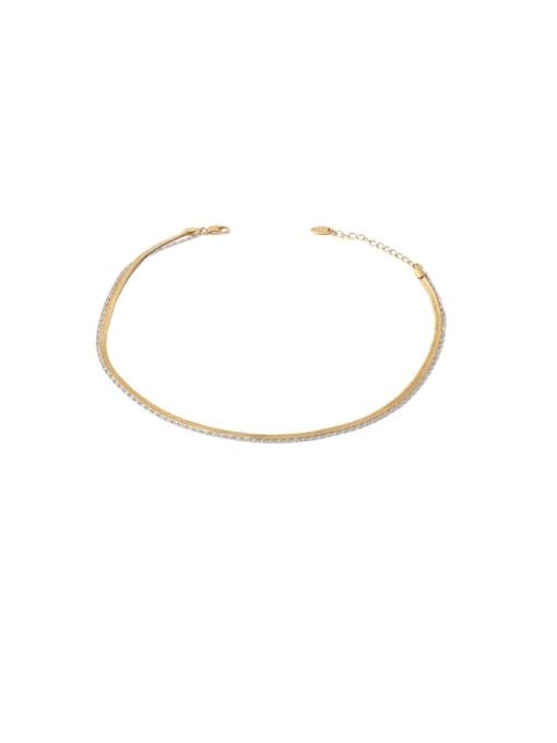 TINGS Brass Geometric Minimalist Multi Strand Necklace 0