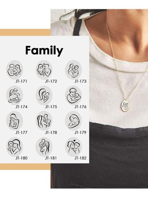 Desoto Stainless steel Geometric Minimalist  Trpe Lettering  Necklace