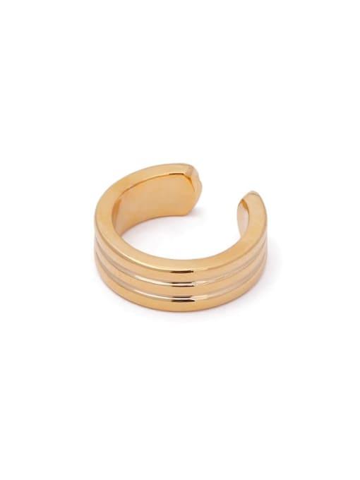 ACCA Brass Geometric Hip Hop Single Earring 0