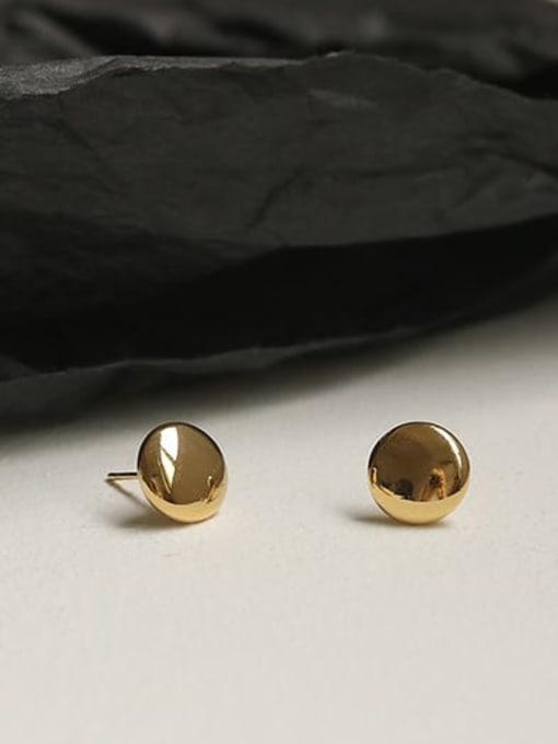 ACCA Brass Smooth Round Minimalist Stud Earring 3