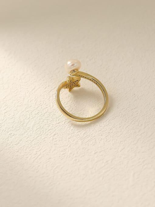 HYACINTH Brass Cubic Zirconia Star Cute Band Ring 1