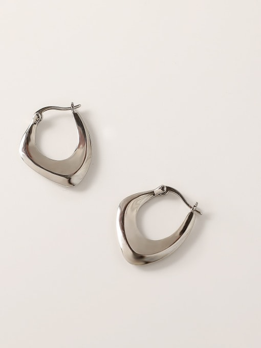 HYACINTH Brass Hollow Geometric Vintage Stud Trend Korean Fashion Earring 3