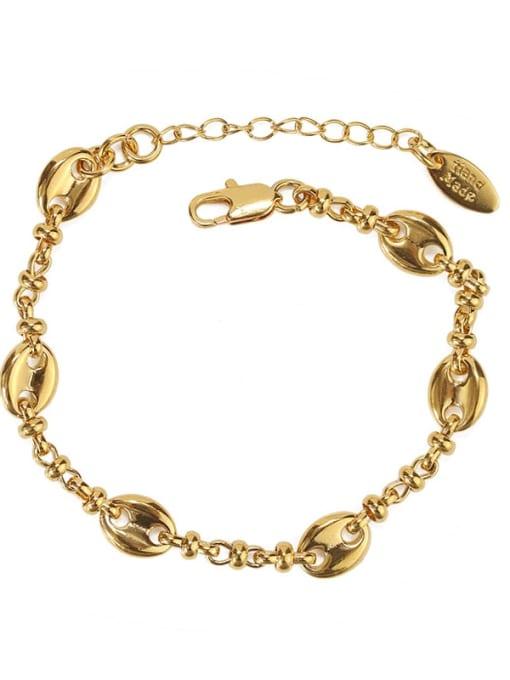 ACCA Brass Geometric chain Vintage Link Bracelet 3