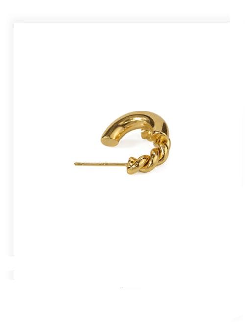 ACCA Brass Irregular Hip Hop Stud Earring 3