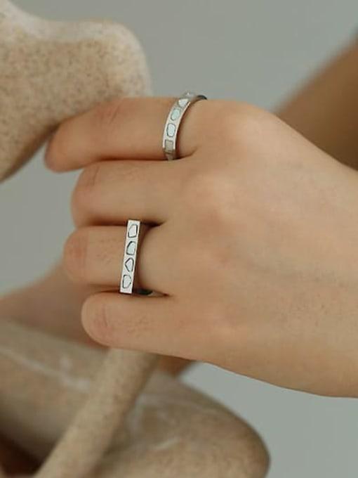 ACCA Titanium Steel Shell Geometric Minimalist Band Ring 2