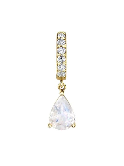 white Brass Cubic Zirconia Water Drop Minimalist Drop Earring