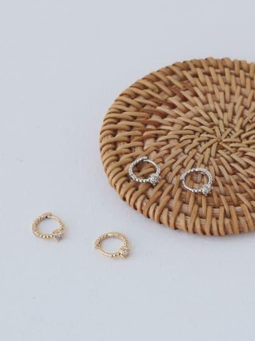 ACCA Brass Cubic Zirconia Geometric Vintage Stud Earring