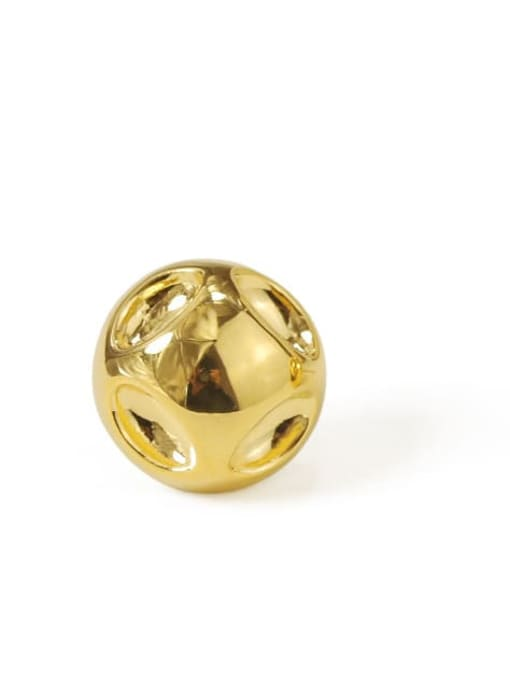ACCA Brass Round Vintage Stud Earring 4
