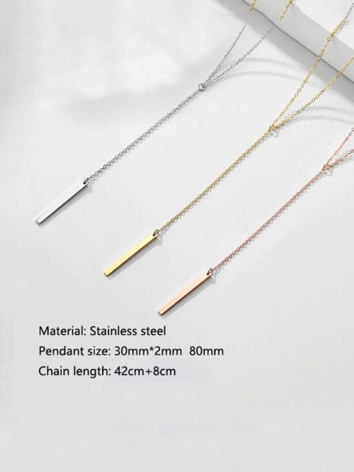 Desoto Stainless steel Tassel Minimalist Multi Strand Necklace 3