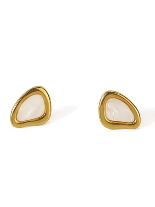 ACCA Brass Shell Geometric Minimalist Stud Earring 2