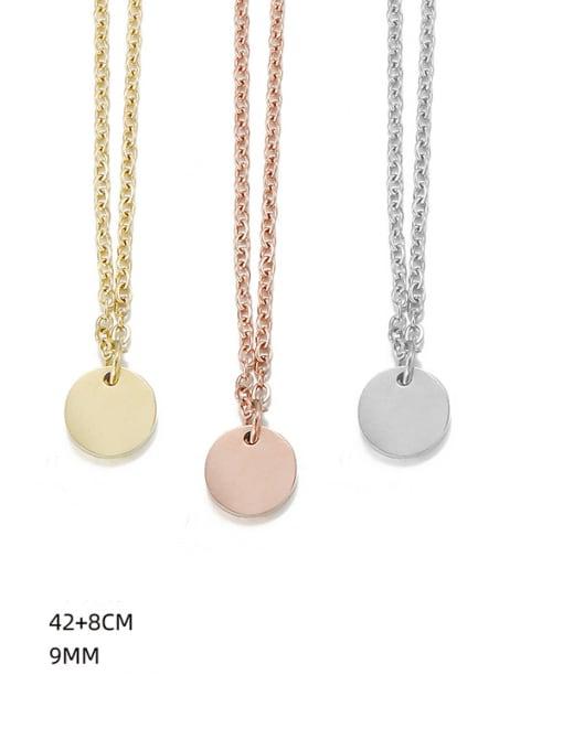 Desoto Titanium Steel Geometric Minimalist Multi Strand Necklace 3