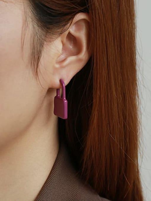 ACCA Zinc Alloy Enamel Locket Minimalist Single Earring 1
