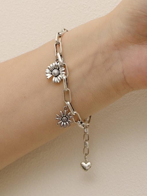 HYACINTH Brass Hollow  Geometric Chain Vintage Link Bracelet 1