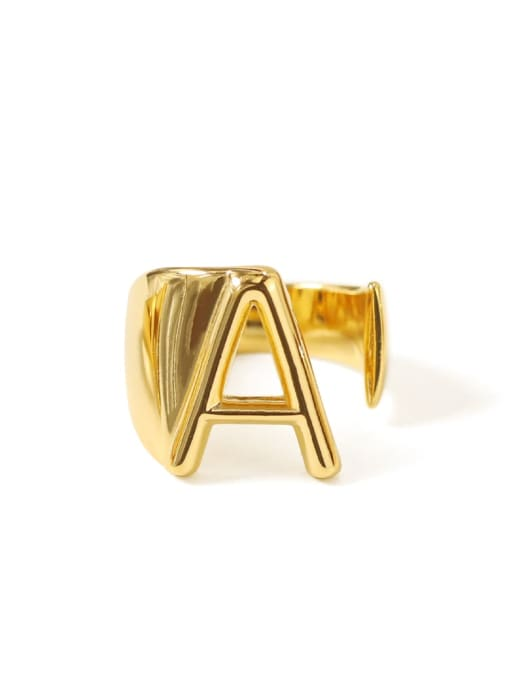 A Brass  26 Letter Vintage Band Ring