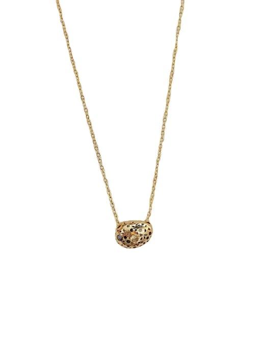 HYACINTH Brass Cubic Zirconia Geometric Vintage Necklace