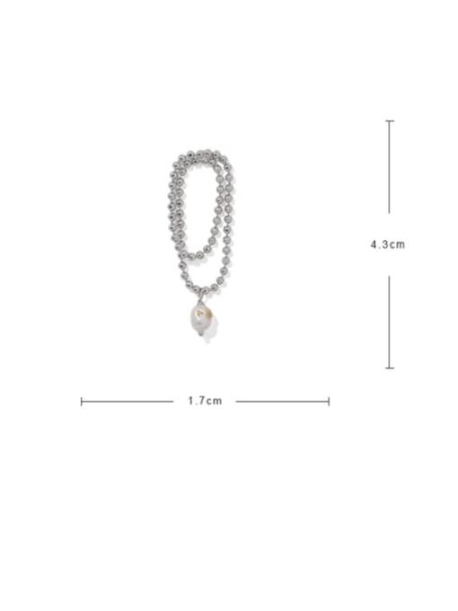 ACCA Brass Bead Tassel Vintage Drop Earring 4