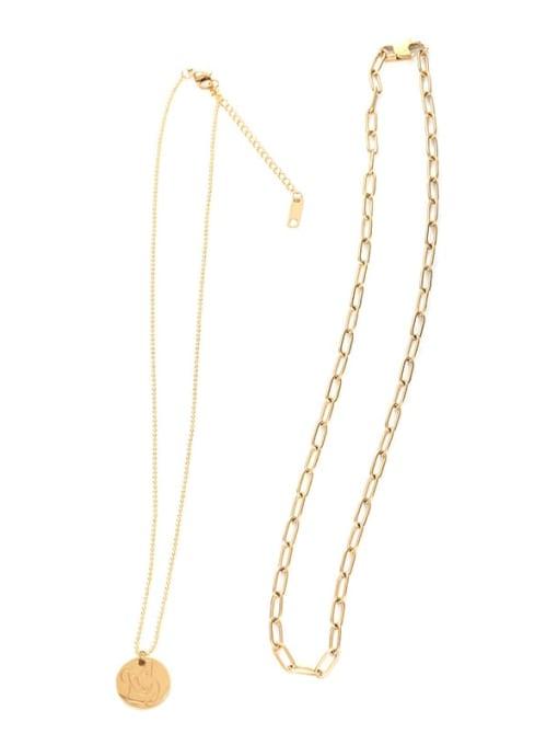Five Color Titanium Steel Geometric Minimalist Necklace 3