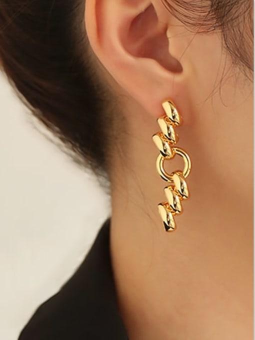 ACCA Brass Irregular Hip Hop Drop Earring 4