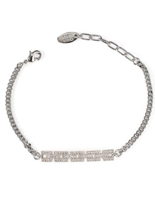 ACCA Brass Cubic Zirconia Geometric Vintage Bracelet 3