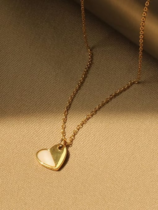 ACCA Titanium Shell Heart Minimalist Necklace 2
