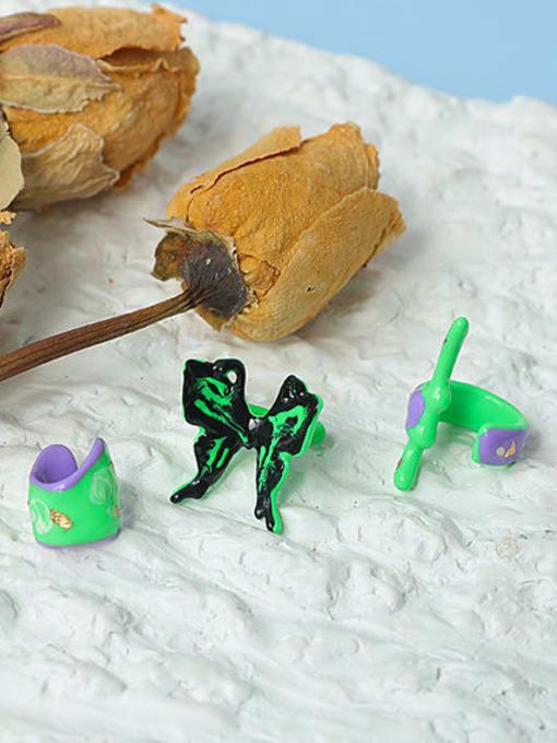 ACCA Brass Enamel Butterfly Minimalist Single Earring 1