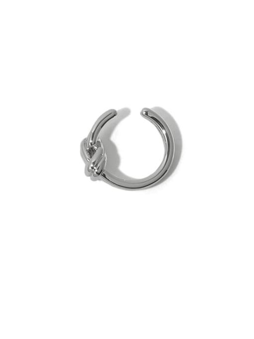 Platinum (sold separately) Brass Line knot Vintage Single Earring