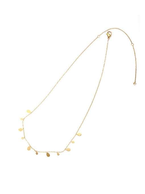 ACCA Brass Water Drop Vintage Necklace 0