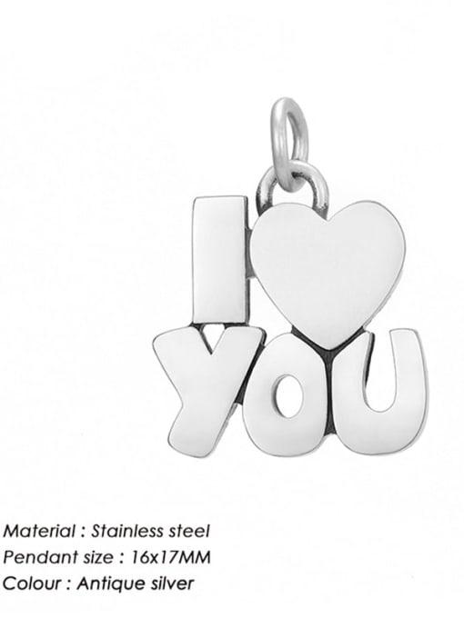 Desoto Stainless steel Minimalist Message Pendant 2