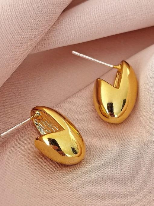 HYACINTH Brass Geometric Minimalist Stud Earring 2