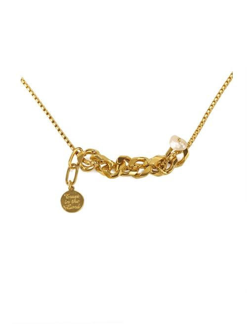 ACCA Brass Freshwater Pearl Locket Vintage Necklace 3
