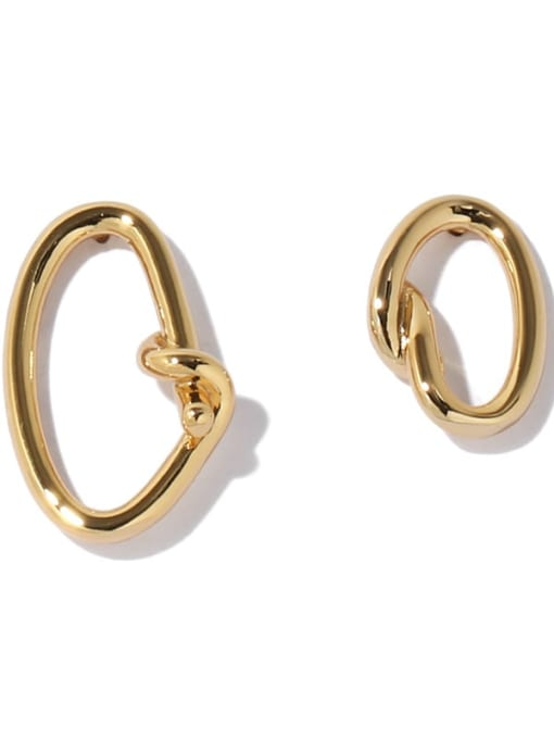ACCA Brass Hollow Geometric Vintage Stud Earring