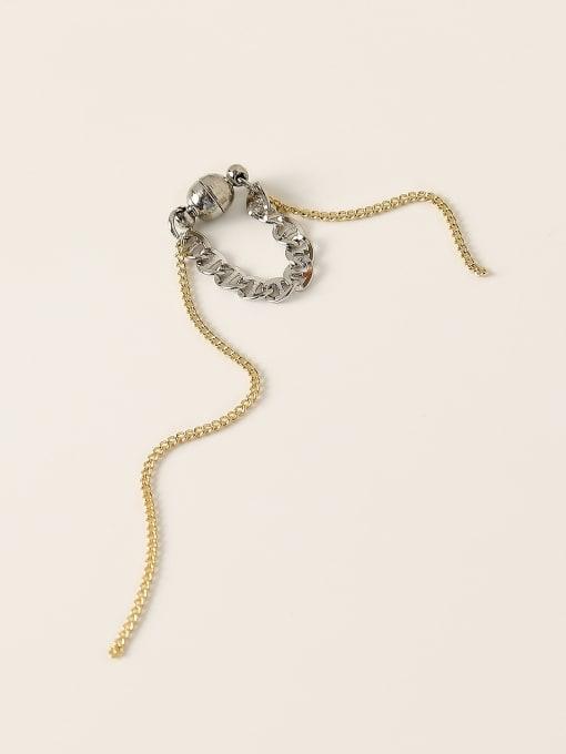 HYACINTH Brass Tassel Vintage Single Earring