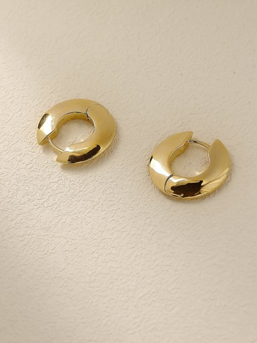 HYACINTH Brass Geometric Minimalist Stud Trend Korean Fashion Earring 2
