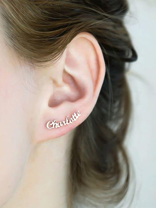 Desoto Stainless steel Letter Minimalist Custom Name Earrings 1