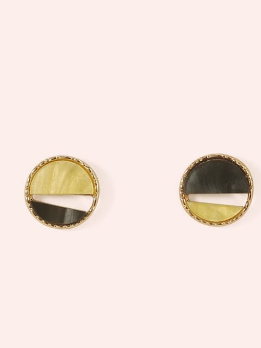 Section 2 Alloy Enamel  Cute Round Contrasting Color  Stud Earring