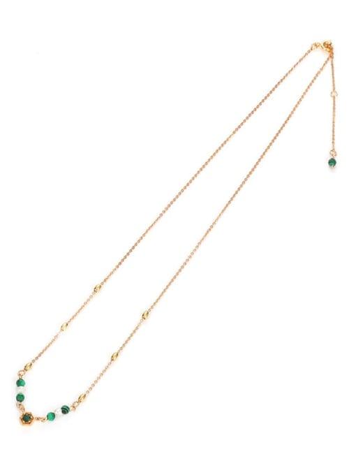 Five Color Brass Imitation Pearl Geometric Vintage Lariat Necklace 3