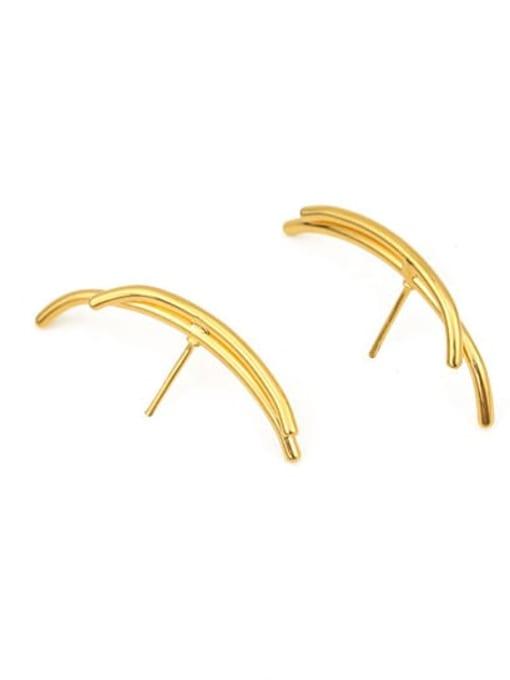 Model 7 Brass Ball Hip Hop Stud Earring
