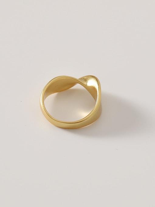 HYACINTH Brass Irregular Minimalist Band Ring 3