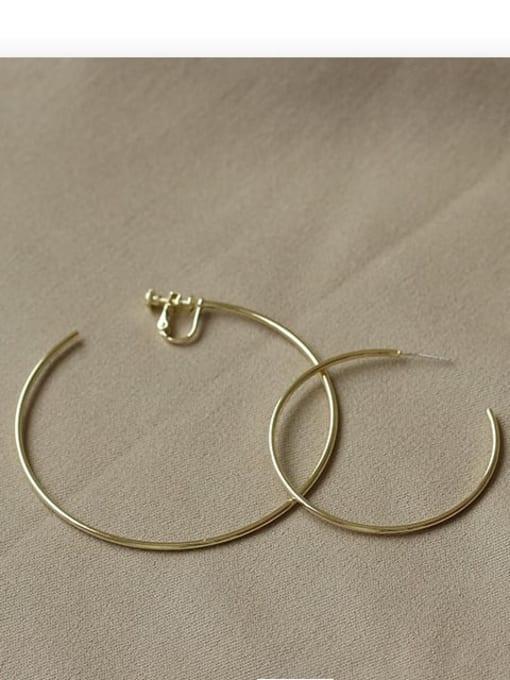 ACCA Brass Geometric Minimalist Hoop Earring 2