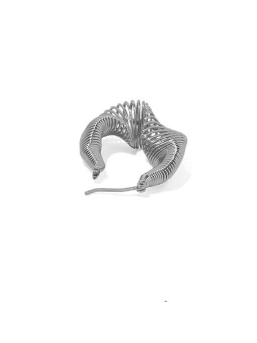 ACCA Brass Hollow Geometric Vintage Huggie Earring 2
