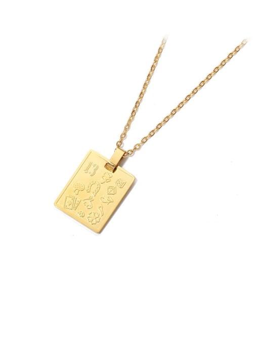 ACCA Titanium Steel Geometric Vintage Necklace 0