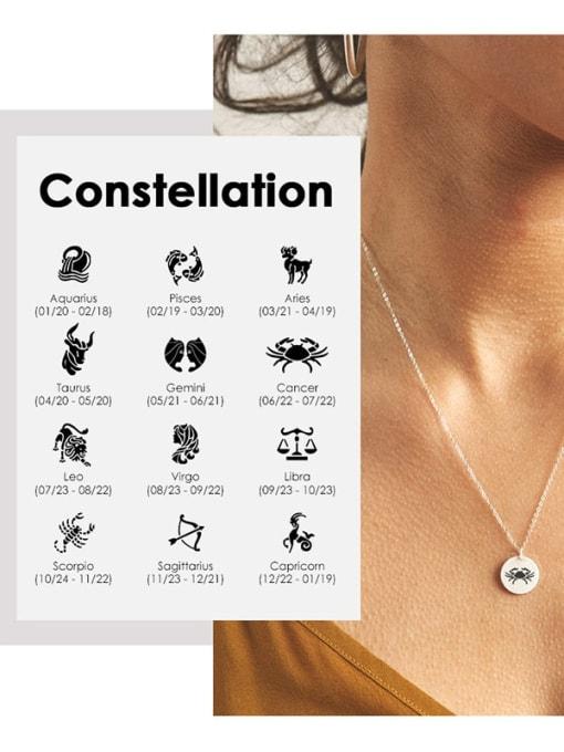 Desoto Stainless steel Constellation Minimalist Round Pendant Necklace