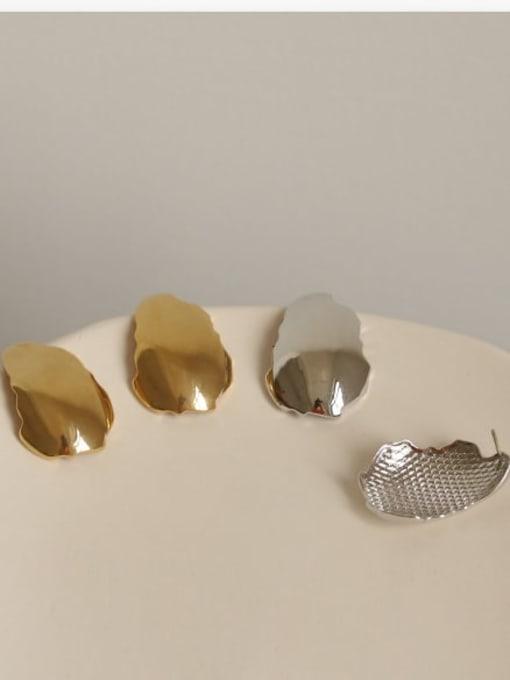 ACCA Brass smooth Geometric Minimalist Stud Earring