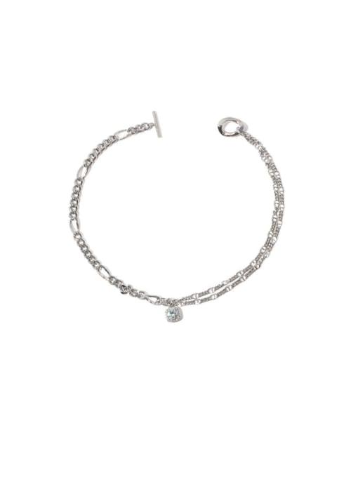 steel Brass Cubic Zirconia Geometric Vintage Necklace