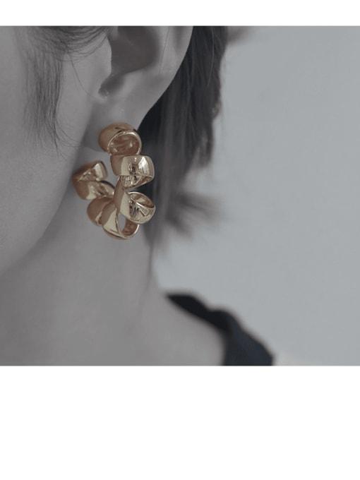TINGS Brass Geometric Vintage Single Earring 2