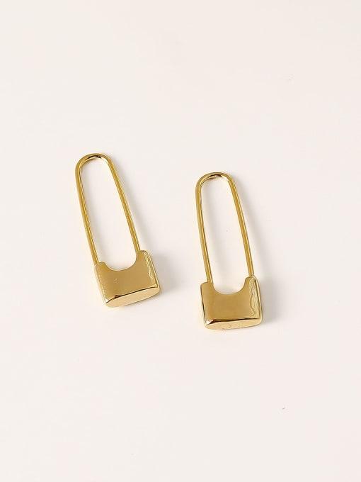 HYACINTH Brass Geometric Minimalist Hook Earring 3